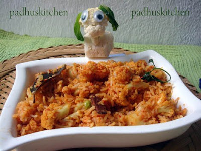 Gobi rice-Cauliflower pulao recipe