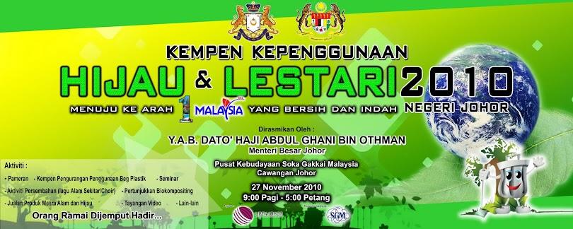 Kempen Kepenggunaan Hijau & Lestari Negeri Johor 2010