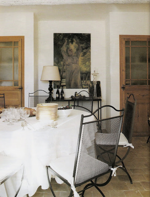 Dining room and table composition, Ambiances Mditerrane 2006, edited by lb for linenandlavender.net