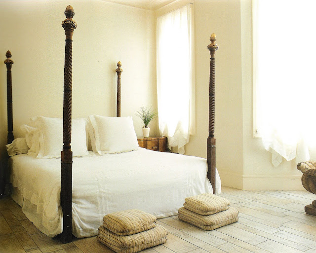 Exotic Four-Poster Bed, image via And So To Bed, edited by lb for linen & lavender
