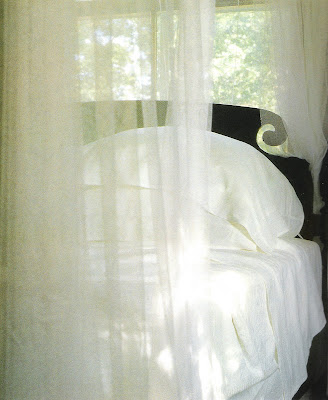 Bedrooms, Victoria, Hearst Books, scrolled headboard and netting, edited by lb linenandlavender.net