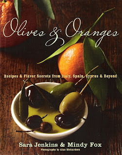 Olives & Oranges, Recipes & Flavor Secrets from Italy, Spain, Cypress & Beyond by Sara Jenkins & Mindy Fox as seen on linenandlavender.net:  http://www.linenandlavender.net/2009/12/pear-basil-and-pecorino-toscano-salad.html