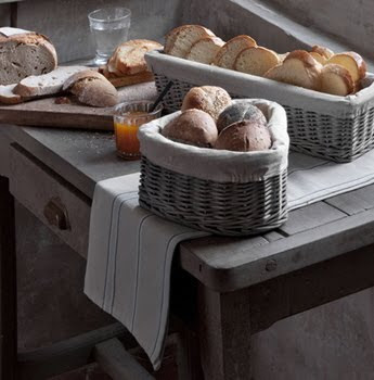 Athezza bread baskets, table runner as seen on linenandlavender.net