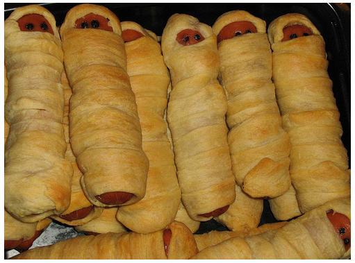Halloween Hot Dog Mummies Recipes — Dishmaps