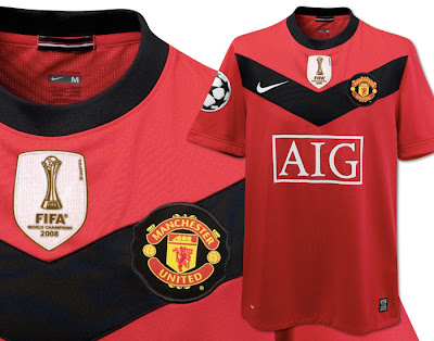 Manchester United UEFA Champions League Home Shirt 2009/10 with World Champions Badge