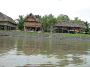 They look similar to long houses in Borneo. The houses are built on stilts.