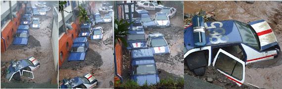 Nota de Abertura em 23/FEV/2010 - TEMPESTADE NA MADEIRA - VIATURAS POLICIAIS