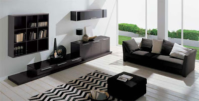 Modern Minimalist Living Room Decorating Ideas by DallAgnese, Italian