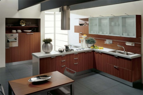 Modern kitchen design for home interior