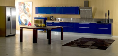 Blue Color in Kitchen Interior Design Ideas