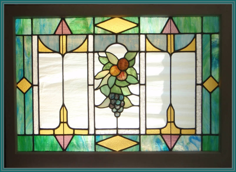 Views from north cecil 1915 stained glass window for Arts and crafts glass