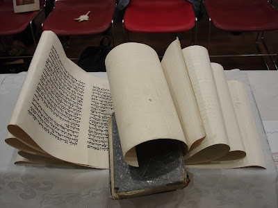 Megillah ready for reading at Matan