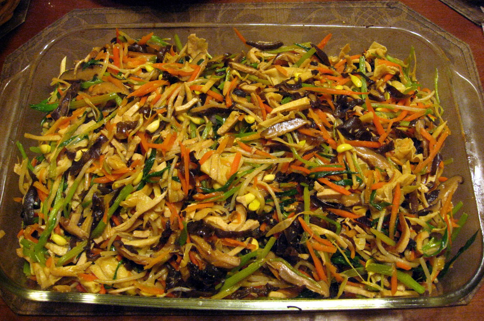 Chinese Lucky Ten Ingredient Vegetables Recipe — Dishmaps