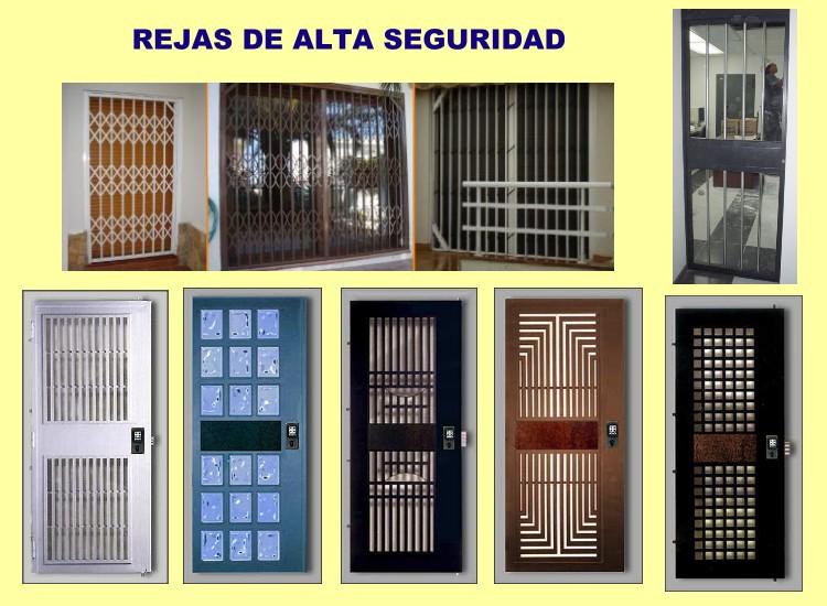 rejas de proteccion en acero calibrado y con cerradura de seguridad