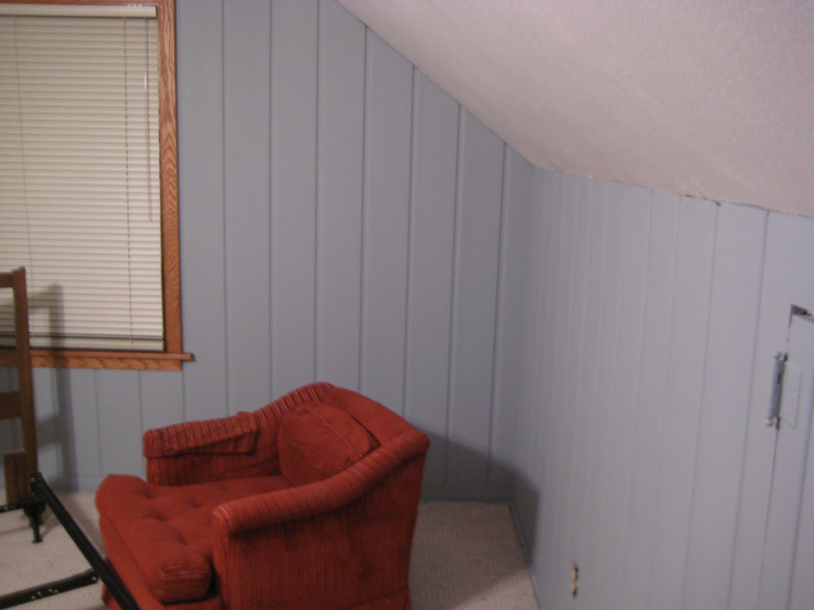 Painting A Bedroom Remodelaholic Painting Over Knotty Pine Paneling Complete