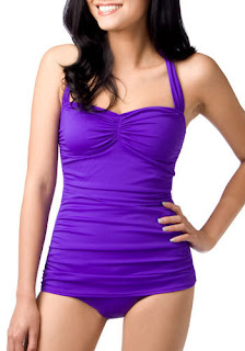 ModCloth Bathing Beauty Retro Swimsuit in Violet