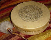 Disas Celtic drum, her hubby made