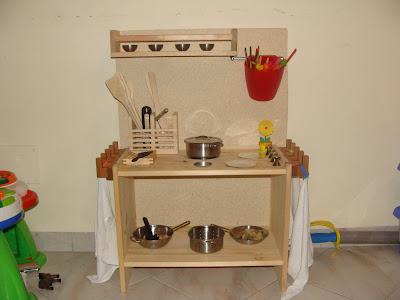 mini cucina per bimbi fai da te  Eco-mamma