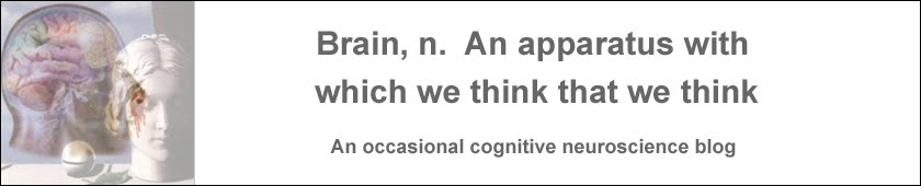 Brain, n.  An apparatus with which we think that we think