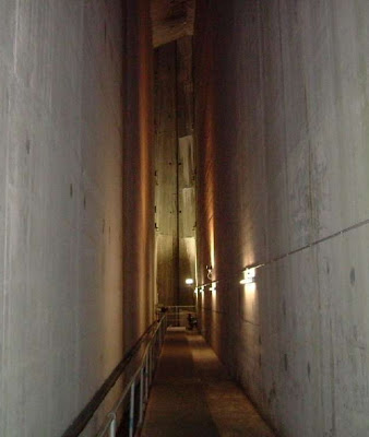Inside the Clyde dam looking toward the