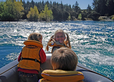 Family rafting on the Upper Clutha