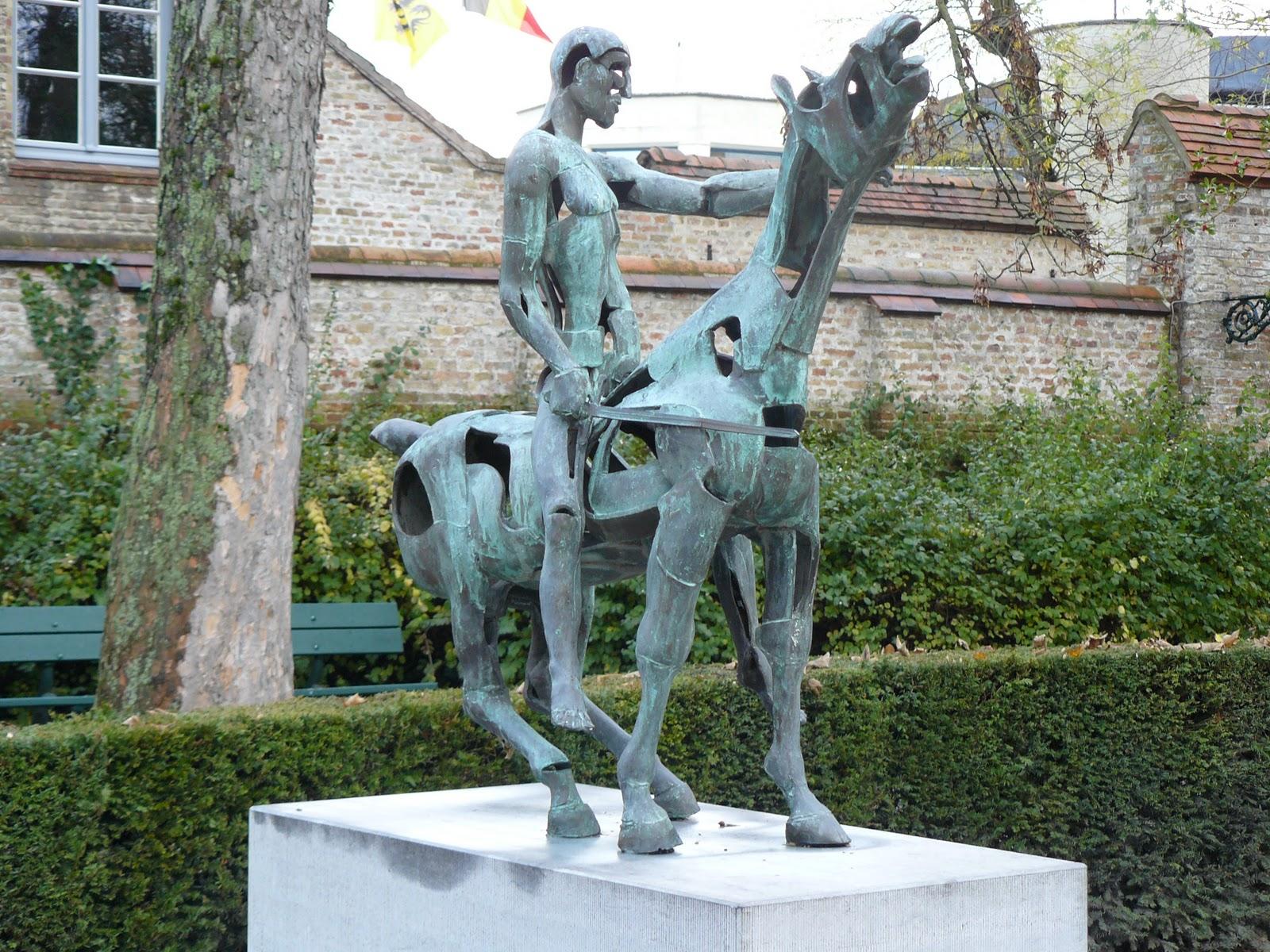 kunstenaar ruiters te paard