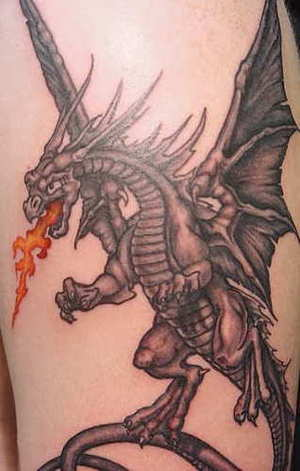 Body painting cool dragon tattoos for Dragon fire tattoos