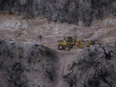 Grader stuck near Lime Point