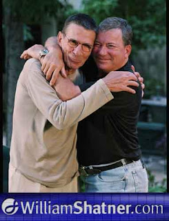 Shatner and Nimoy embrace