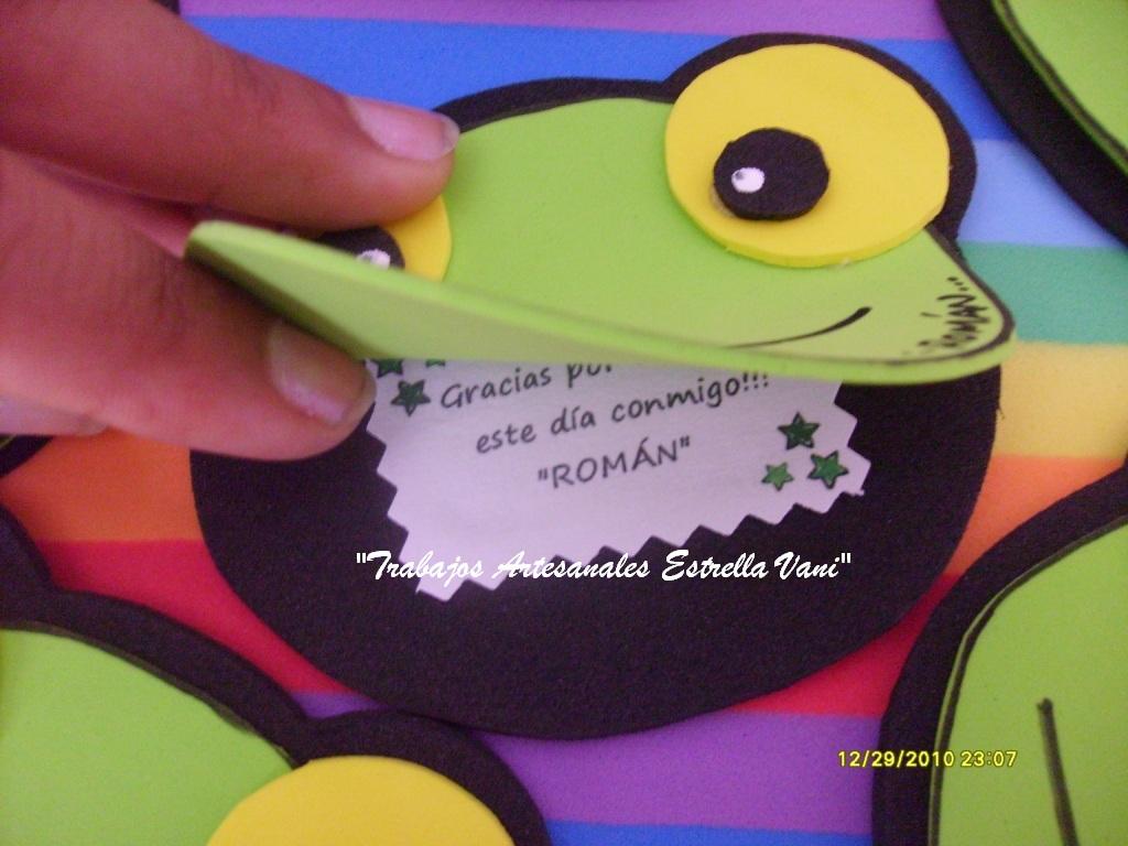 Utilisima Manualidades Goma Eva Sapo Pepe | apexwallpapers.com