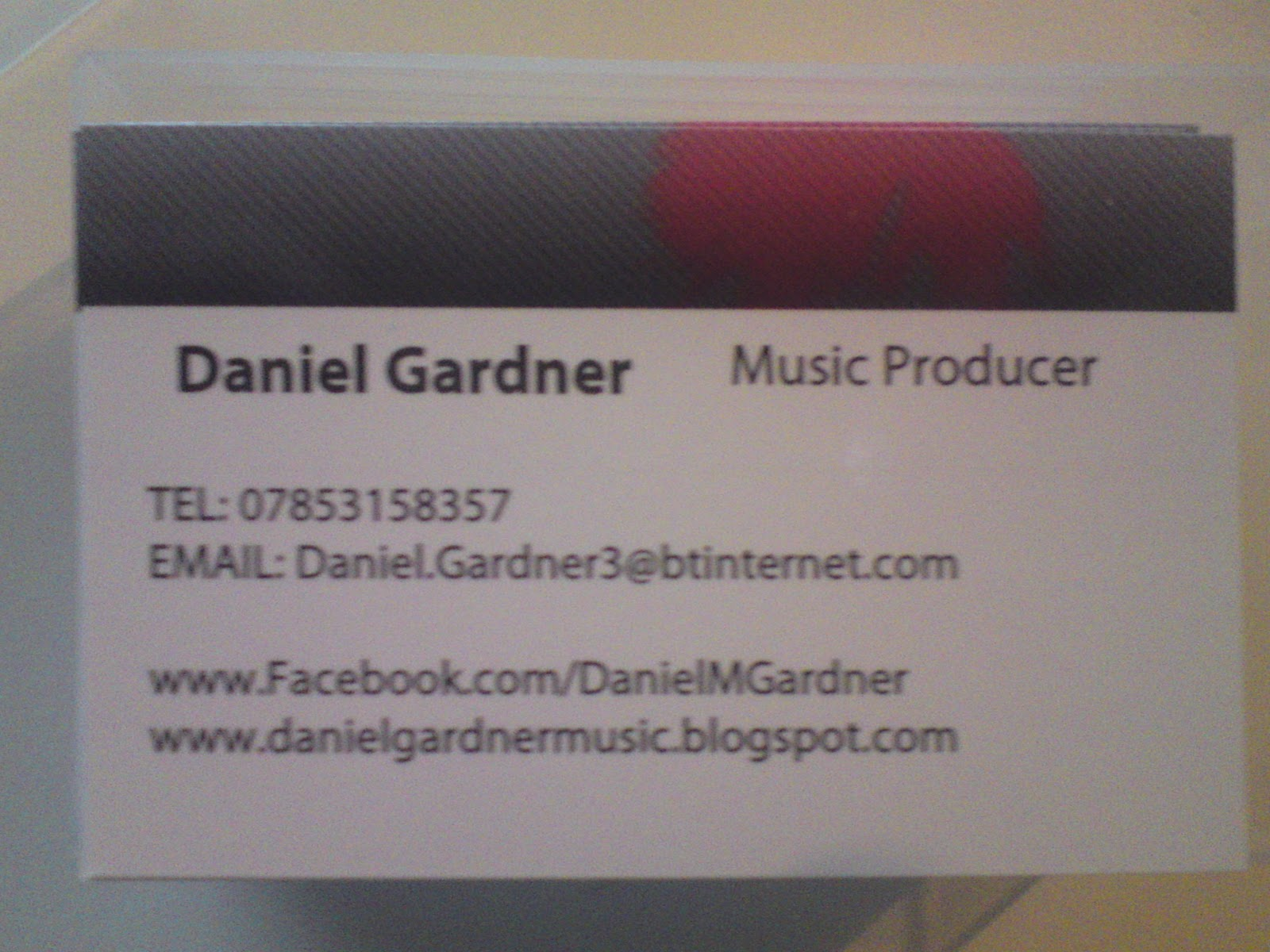 Daniel Gardner Music Producer Upgraded SoundCloud Account
