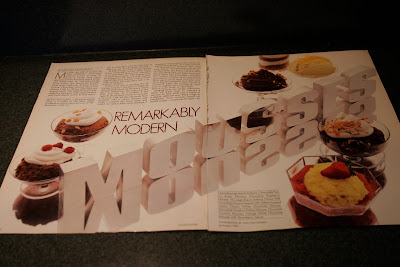 A Chocolatier Magazine spread from Autumn 1985: Remarkably Modern Mousses