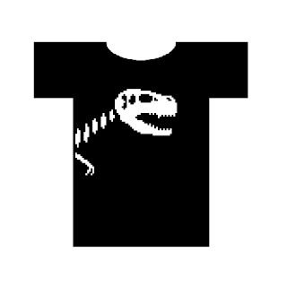 pixelated dino shirt