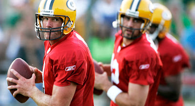 Brett Favre and Aaron Rodgers