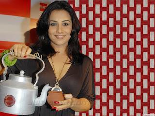 Indian actress and famous Bollywood movie star Vidya Balan