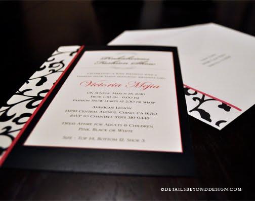 Details beyond design by lauren fashion show birthday party fashion show birthday party invitation set stopboris Gallery