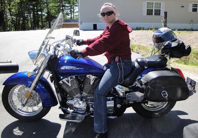 motorcycle Honda VTX 1300 girl ride