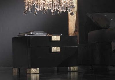 Alux Modern Black Bedroom Furniture Design from Elite