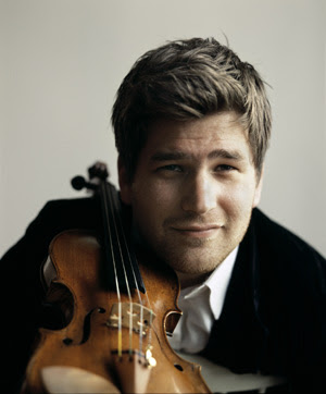Violinist Nicolas Dautricourt, photo by Guy Vivien