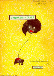 Golliwog on the cover of Debussy's Children's Corner, 1908 edition