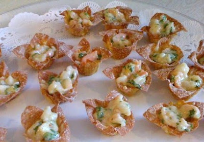 mango curry shrimp salad in wonton cups recipe yummly mango curry ...