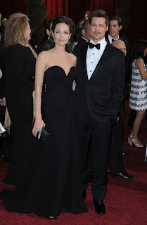 Angelina Jolie Brad Pitt couple Oscar 2009