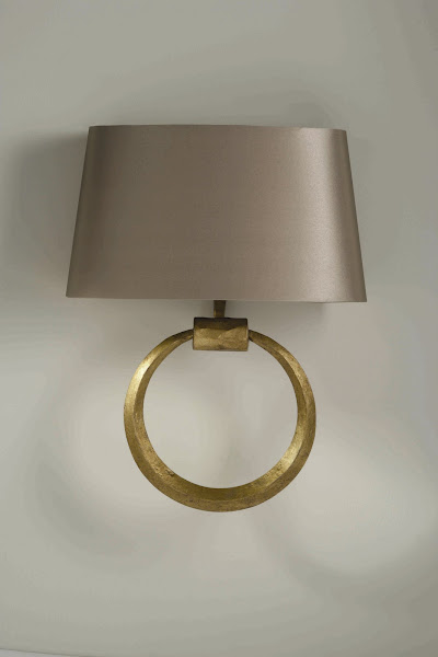 Houses gardens people new lighting and furniture from porta romana gold ring wall light mozeypictures Image collections