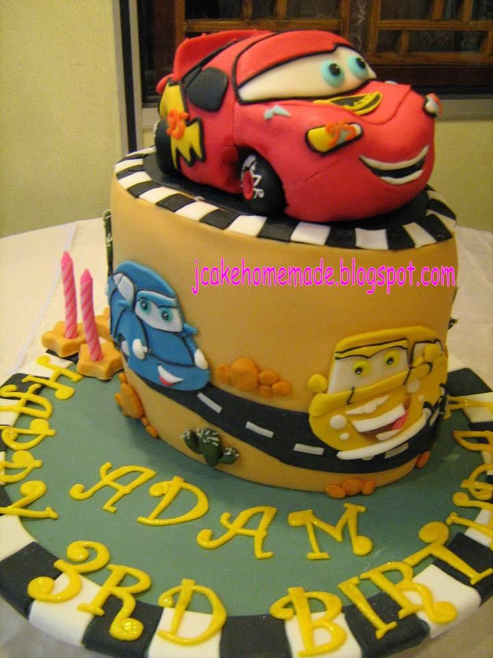 Lightning Mcqueen Themed Cakes Cars-lightning Mcqueen Theme