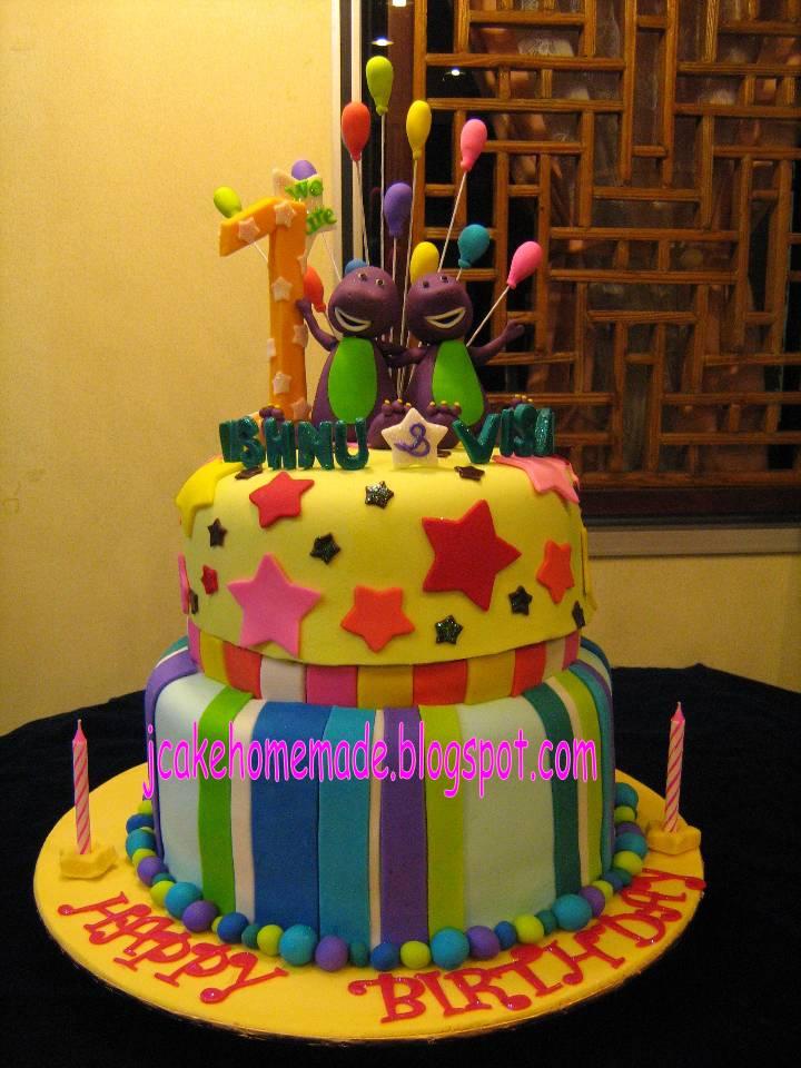 Barney 1st Birthday Cake Barney Birthday Cake