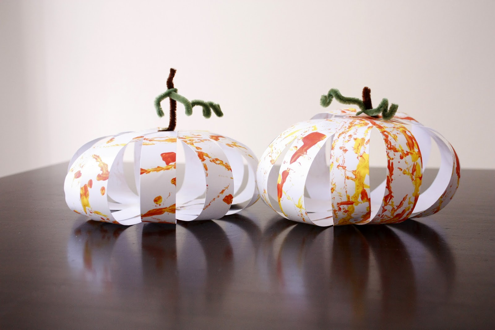 Paper pumpkins for kids for Craft ideas for a 4 year old