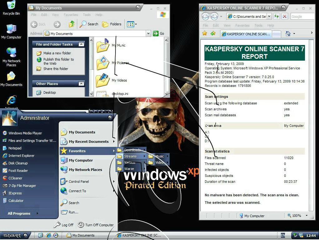 Windows Xp Sp3 Dark Edition V.9 All New Sata 2013