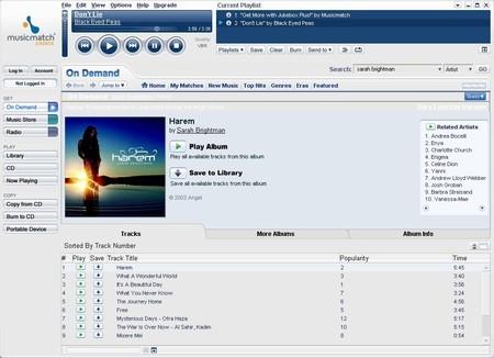 Descargar MusicMatch Jukebox 10.00.4015 Gratis