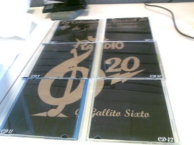 CD's 7 al 12 que forman el póster del Gallito Sixto