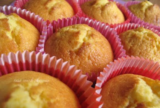 uniced saffron cupcakes